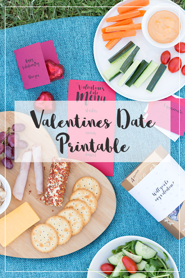 Looking for a date idea to do at home or take on a picnic? Use this printable Valentines date pack!