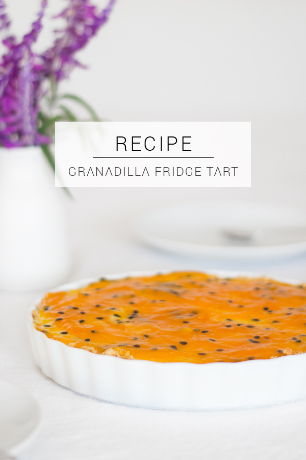 Easy Passion Fruit Granadilla Fridge Tart recipe to add a tropical flavour to your party!