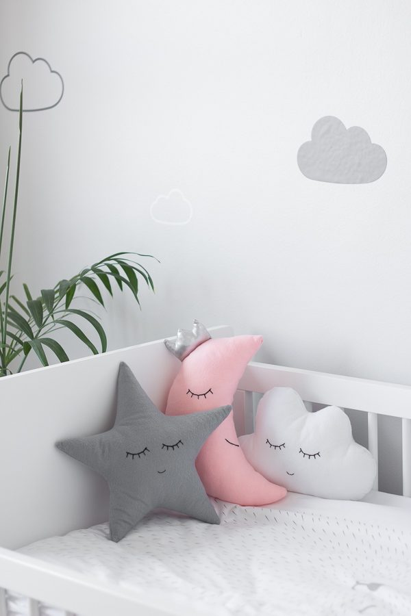 Nursery Room Tour // Grey, white and pink neutral nursery for a little baby girl.