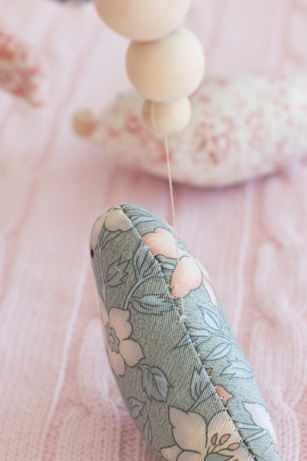 Make a cute stuffed animal mobile for your little one's baby room // Bird Nursery Mobile DIY