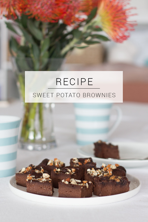 Sweet Potato and Date Brownies (Sugar, Gluten, and Dairy free) // Recipe