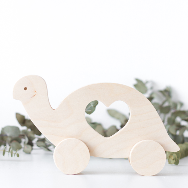 Wooden Push Toy - Tortoise