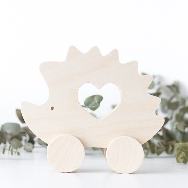Wooden Push Toy - Hedgehog