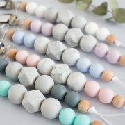 Beaded Pacifier Dummy clips - Teethers - Pure Sweet Joy