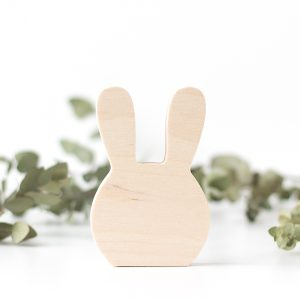 Plain Wooden Animal Shelf Decor Bunny Brighter