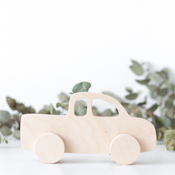 Wooden Push Toy - Bakkie