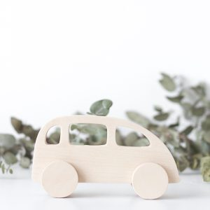 Wooden Push Toy - Taxi
