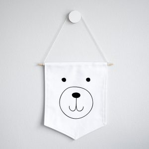 Wall Banner Flag- Bear