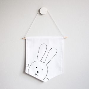 Wall Banner Flag- Bunny