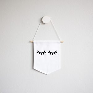 Wall Banner Flag- Mini Sleepy Eyes