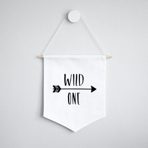 Wall Banner Flag- Wild One