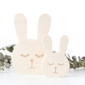 Wooden Animal Face - Bunny
