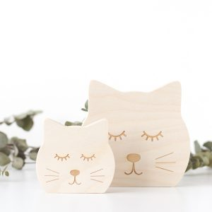 Wooden Animal Face - Kitty Cat