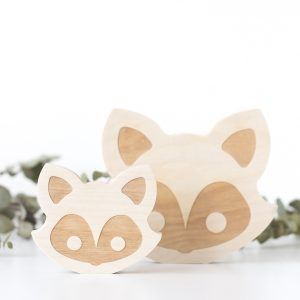 Wooden Animal Face - Fox