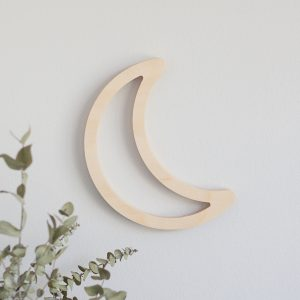 Wooden Wall Cutout - Moon