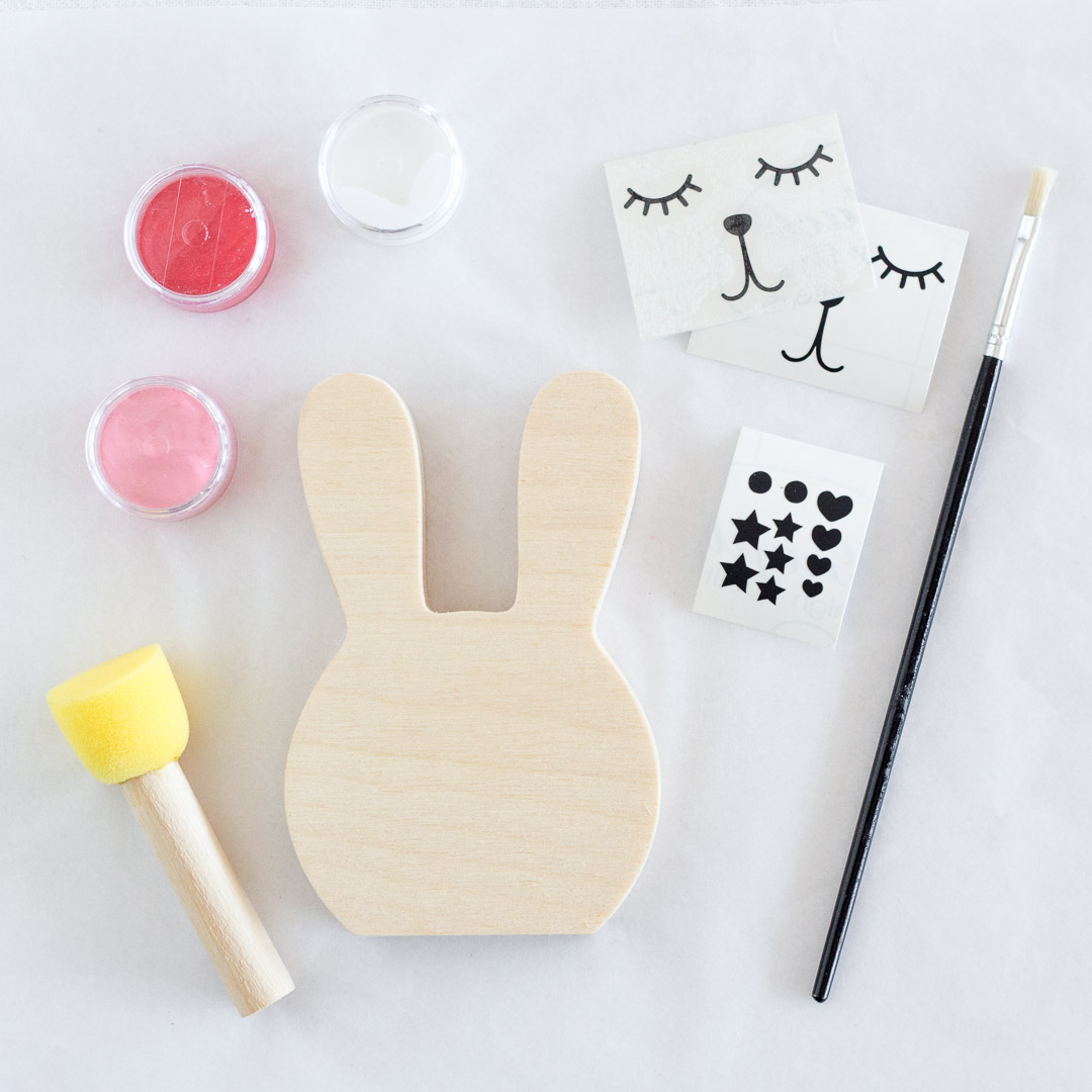 DIY Wooden Bunny Face - Painting Kit