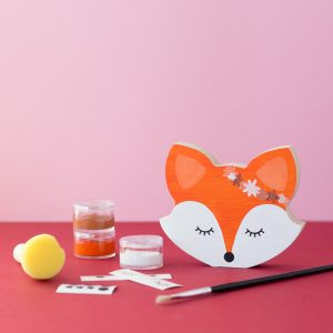 DIY Wooden Fox Face - Painting Kit