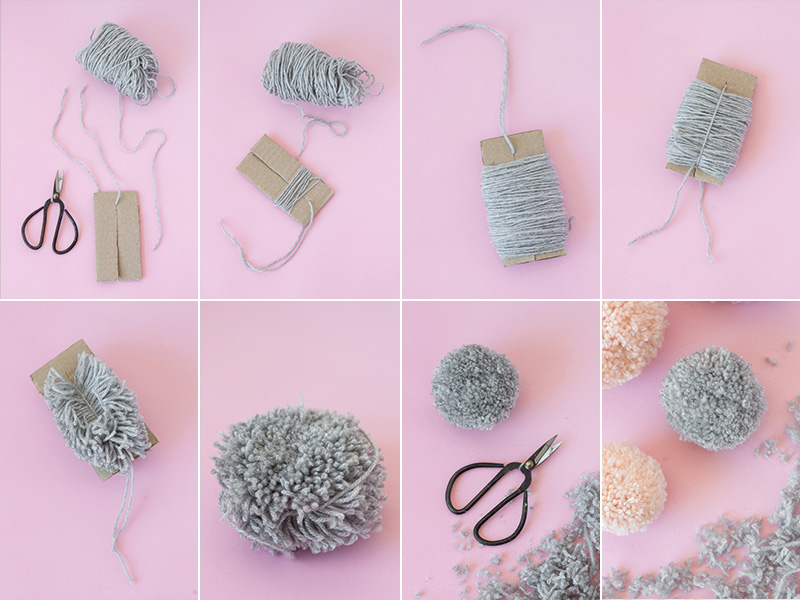 Easy Pom Pom DIY Hack instructions