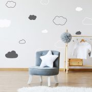 Vinyl Wall Decal - Removable Wall Decor - Clouds