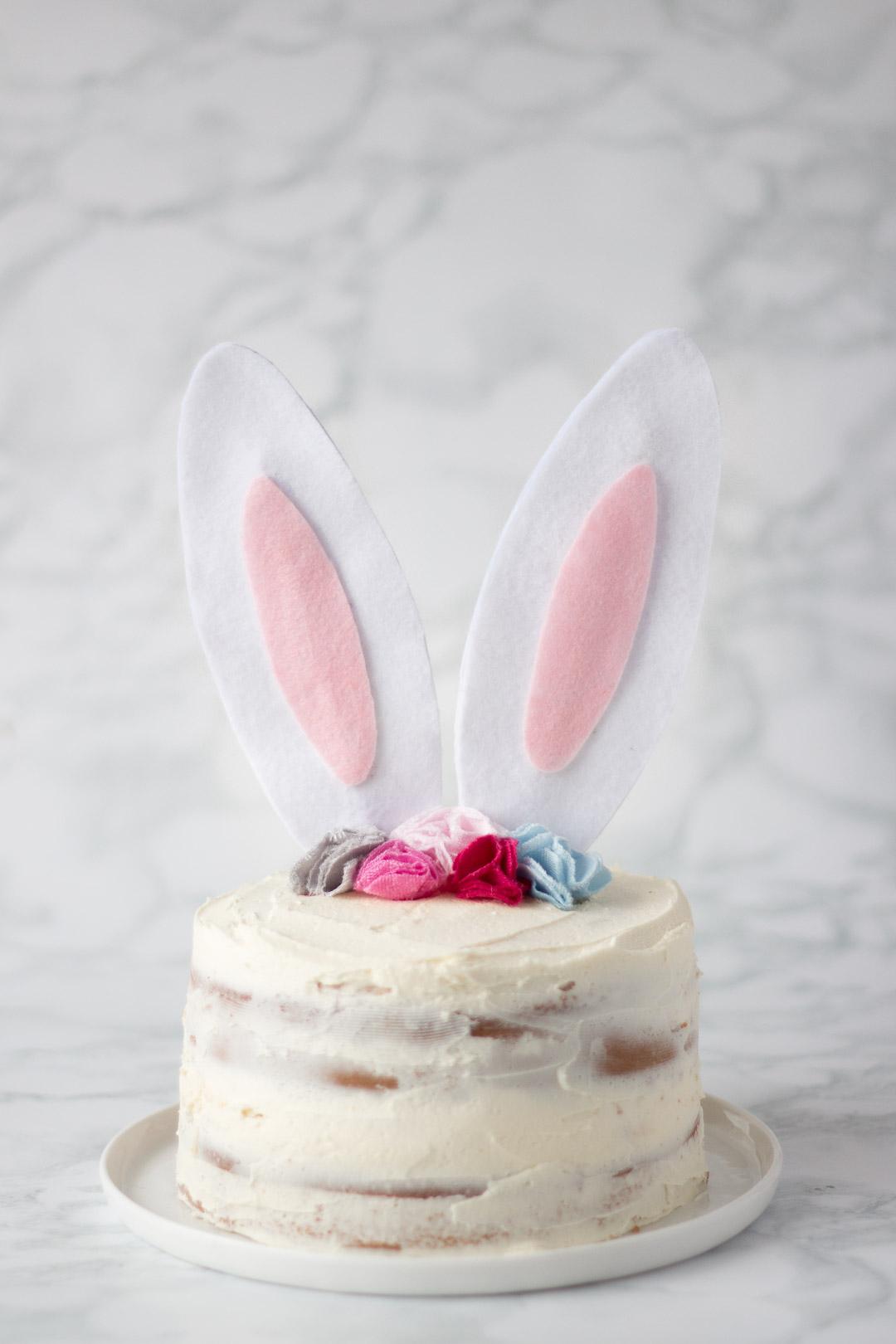 Felt Easter Bunny Cake Topper