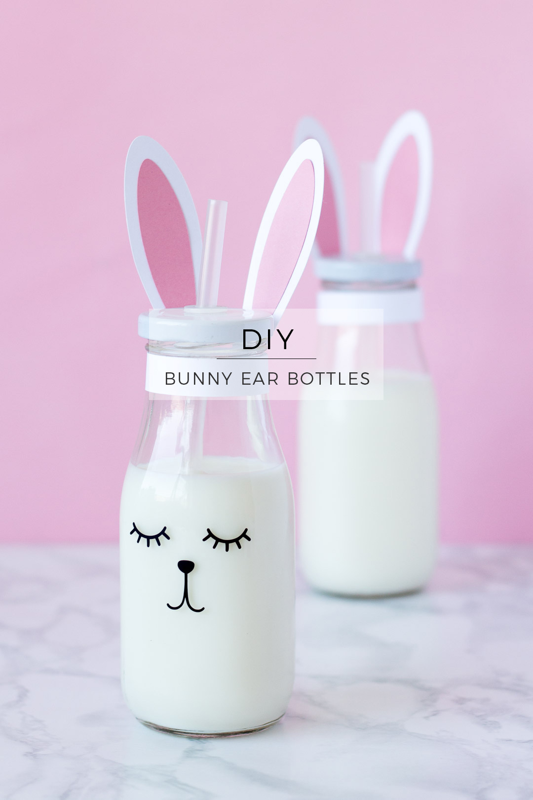 DIY Printable Easter Bunny Ear Bottles