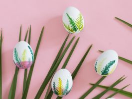 Painted watercolour easter egg