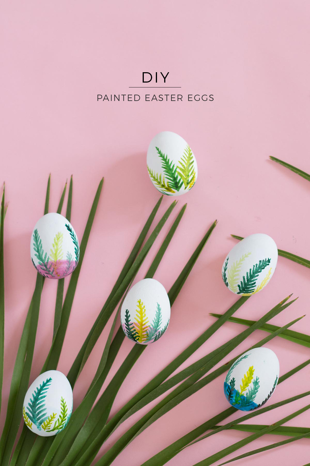 Watercolor Painted Easter Eggs - Chocolate Eggs Decor