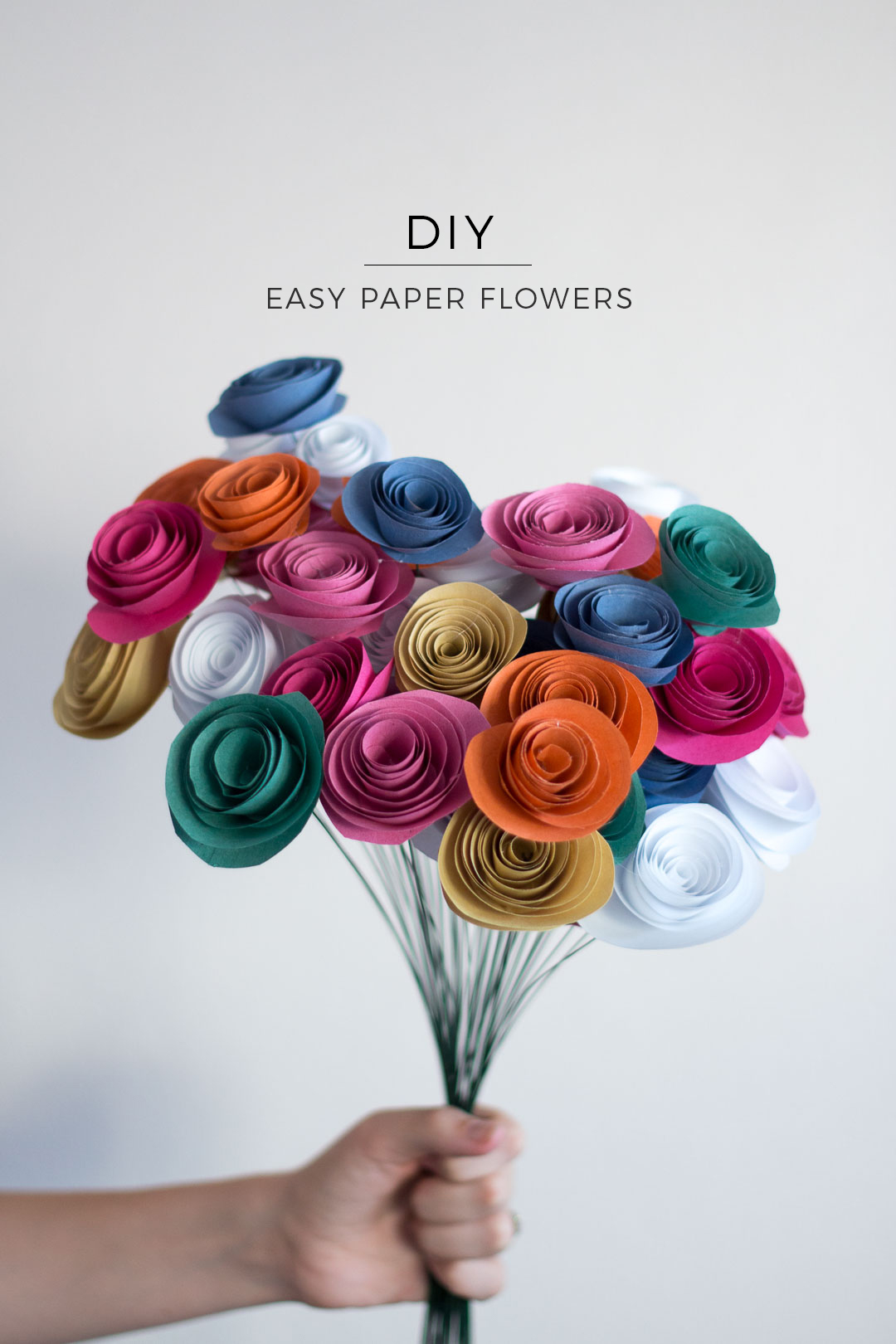 Easy Paper Flowers Diy Pure Sweet Joy
