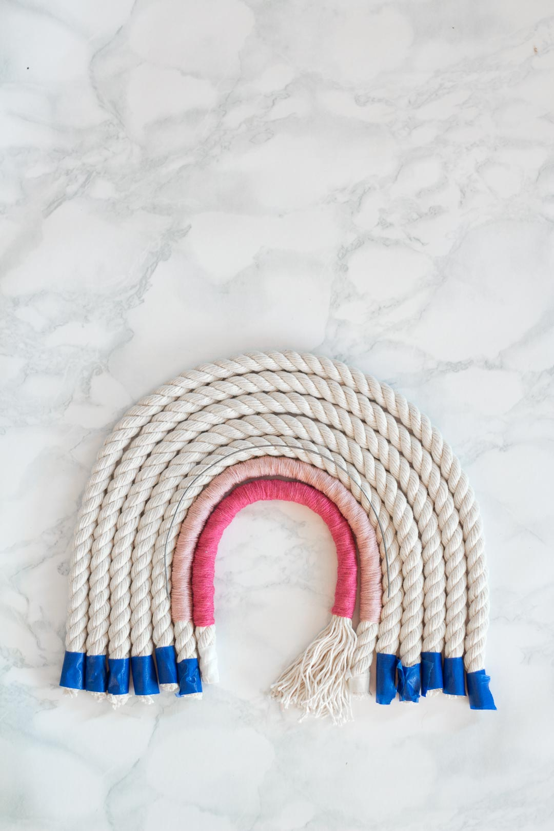 Rope Rainbow Wall Hanging DIY