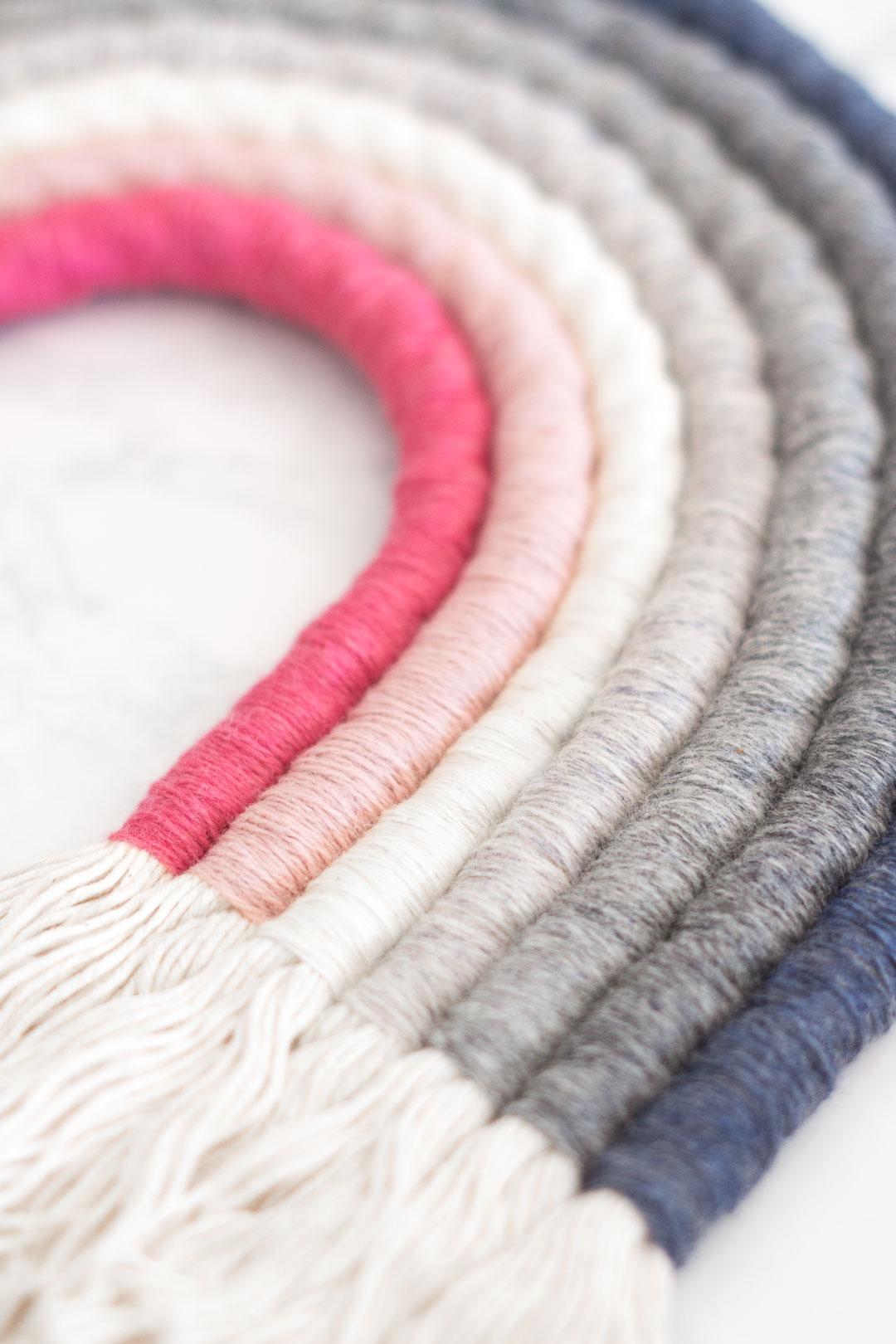 Rope Rainbow Wall Hanging DIY - Choose any multicoloured theme you like