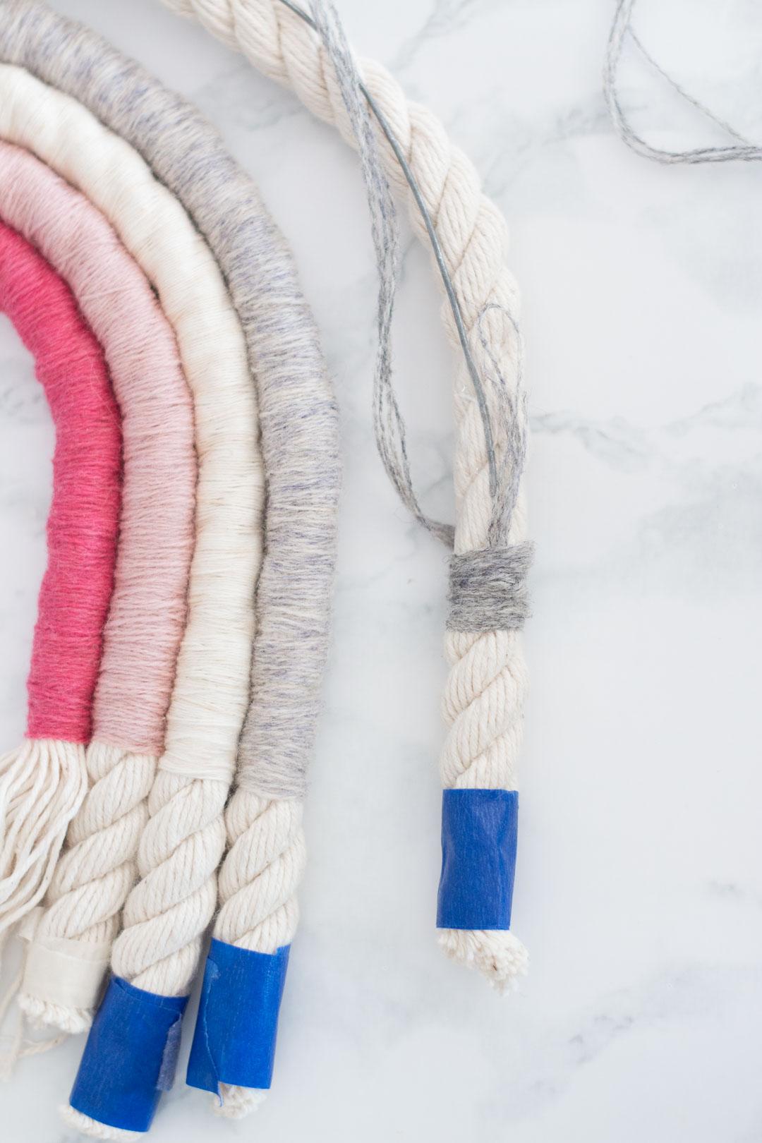 Rope Rainbow Wall Decor Fibre Art Diy Pure Sweet Joy
