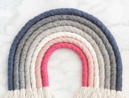 Rope Rainbow Wall Hanging DIY - Pink and Grey Rainbow - Choose any colours you want