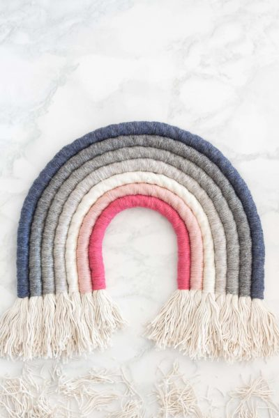Rope Rainbow Wall Decor // Fibre Art DIY