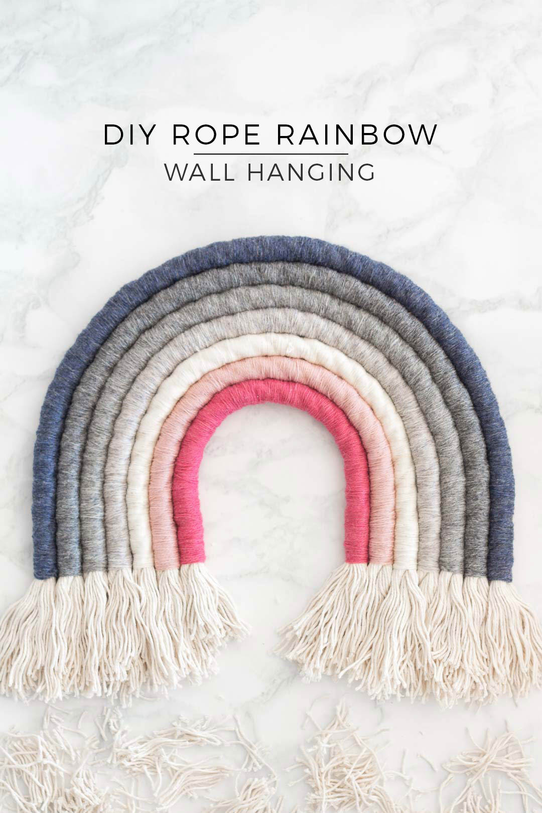 bbb5fe021542 Rope Rainbow Wall Hanging DIY - Perfect as nursery decor or in your living  room -
