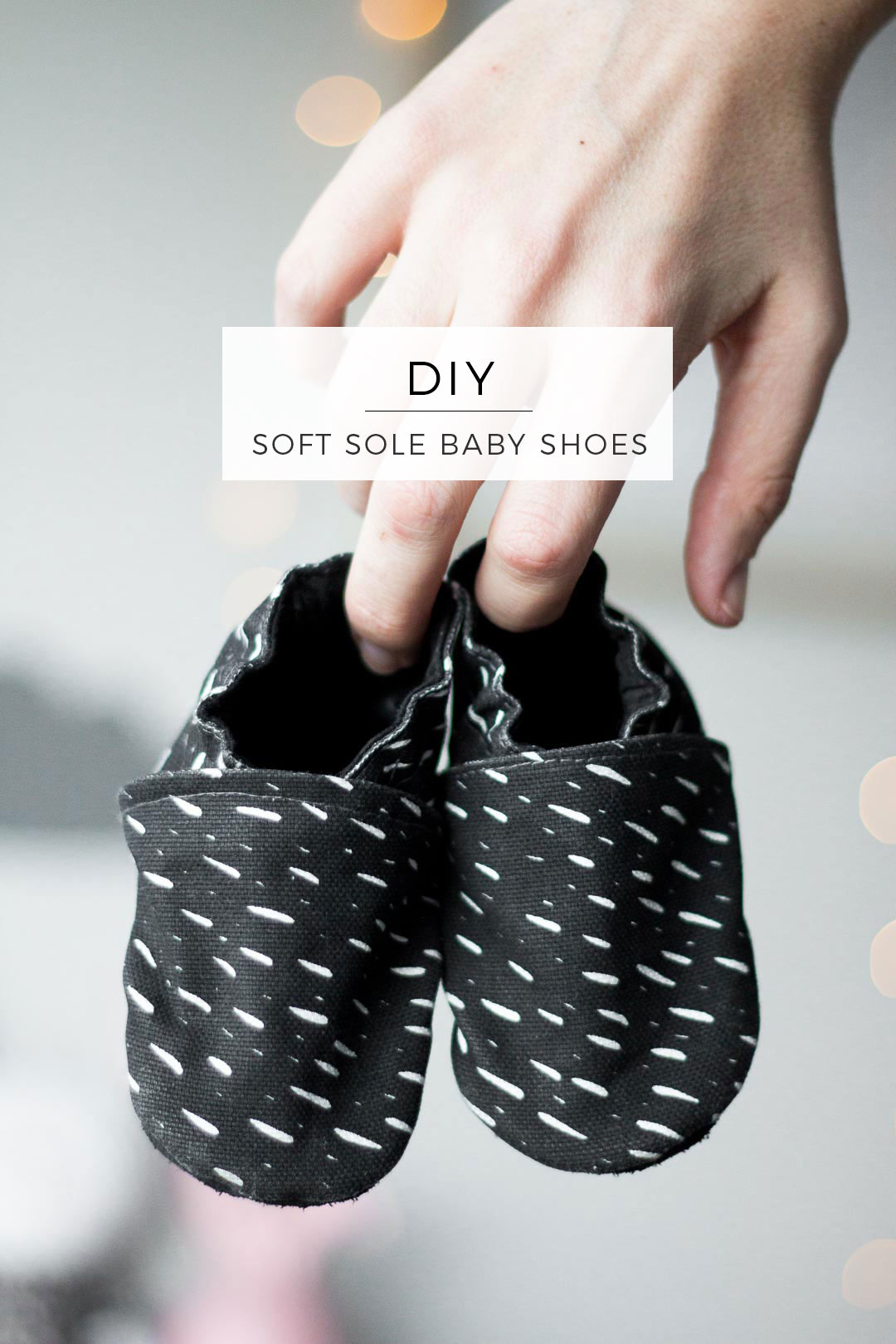 Soft Sole Baby Shoes DIY // Tutorial for handmade toddler shoes // Leather soles and your own choice of fabric