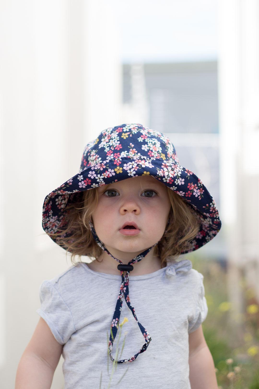 Child's Sun Hat // Wide-brimmed Bucket Hat DIY - Pure ...