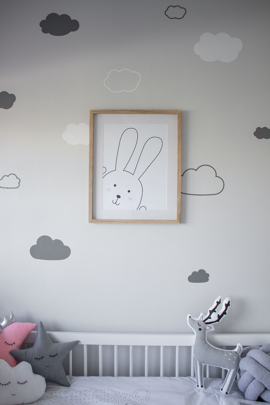 Free Bunny Print Download // Printable Nursery Decor