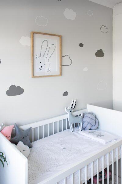 Free Cloud SVG file for wall vinyl decor // Pure Sweet Joy