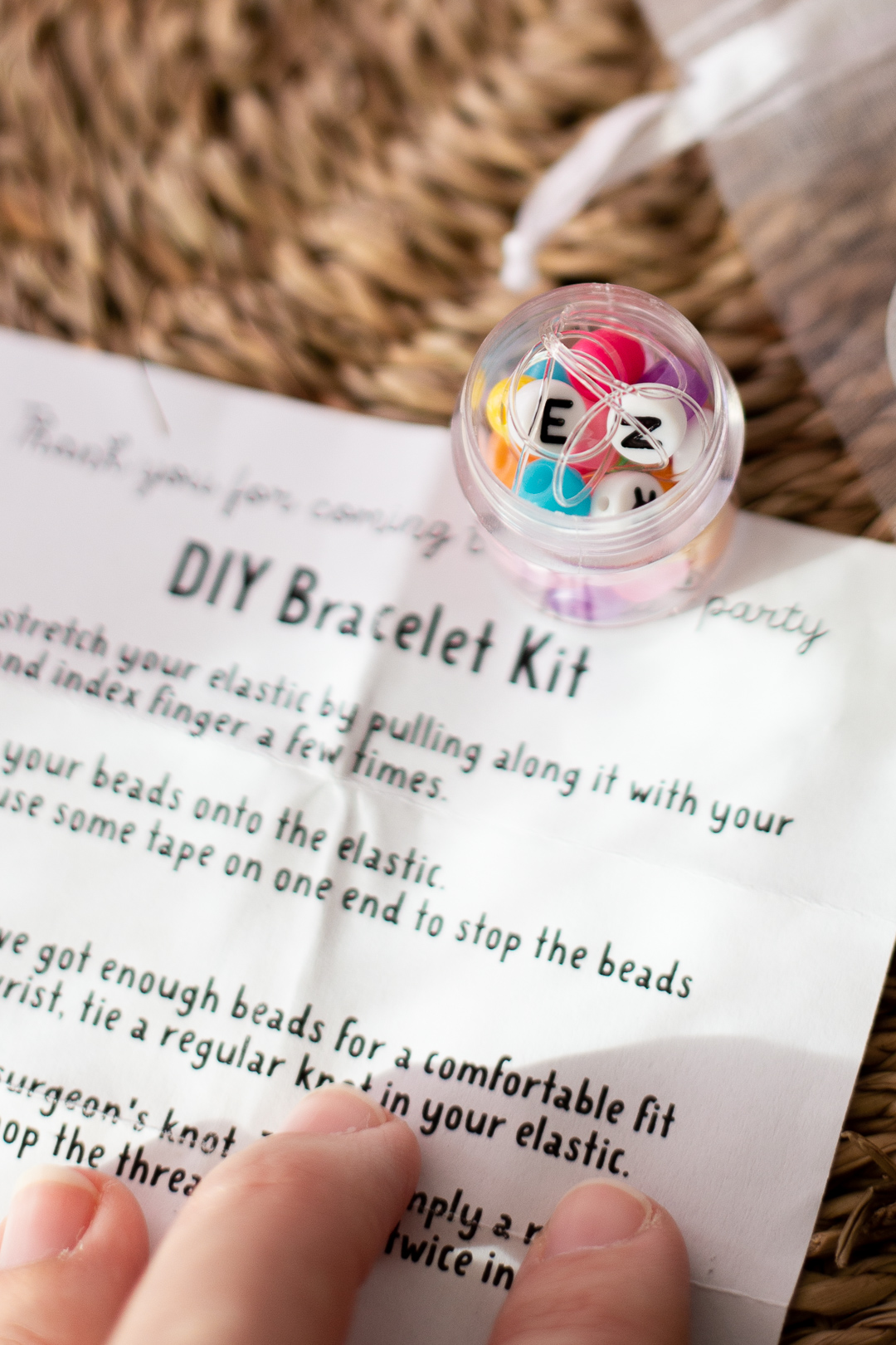 Rainbow Party - Party Favour Idea - DIY stretchy bracelet kit