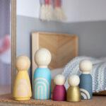 DIY Boho Wooden Peg Dolls from Pure Sweet Joy