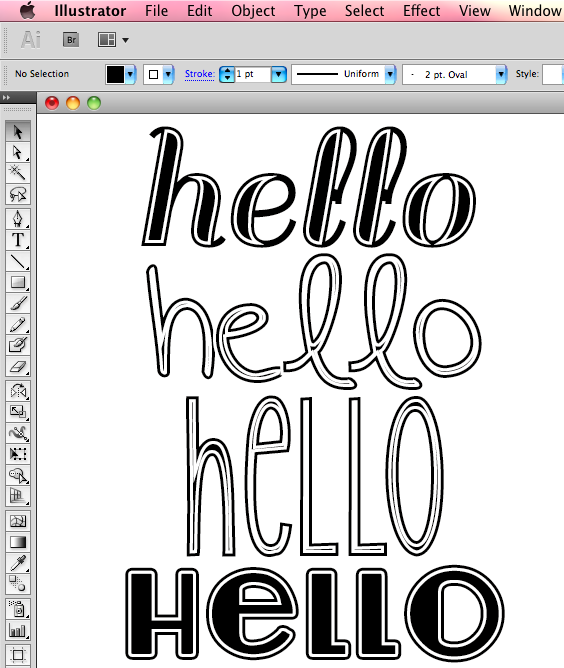Adding detail to plain fonts in Illustrator // tutorial