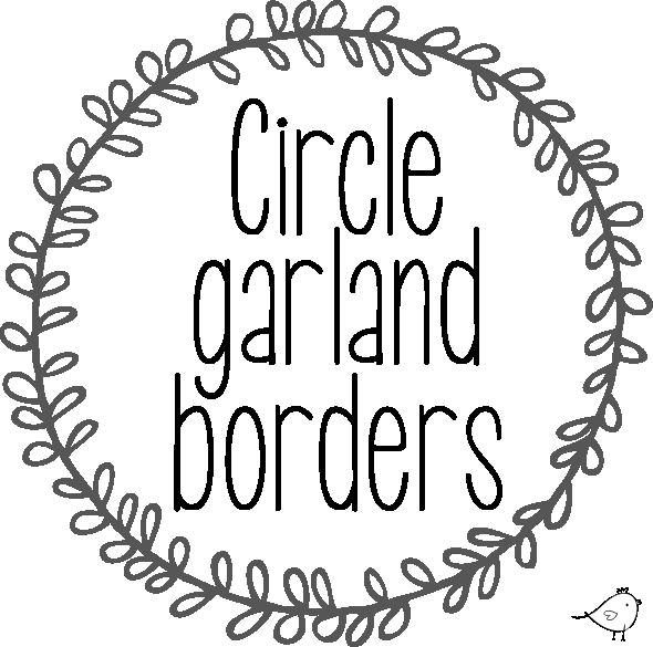 Circle garland borders // free download