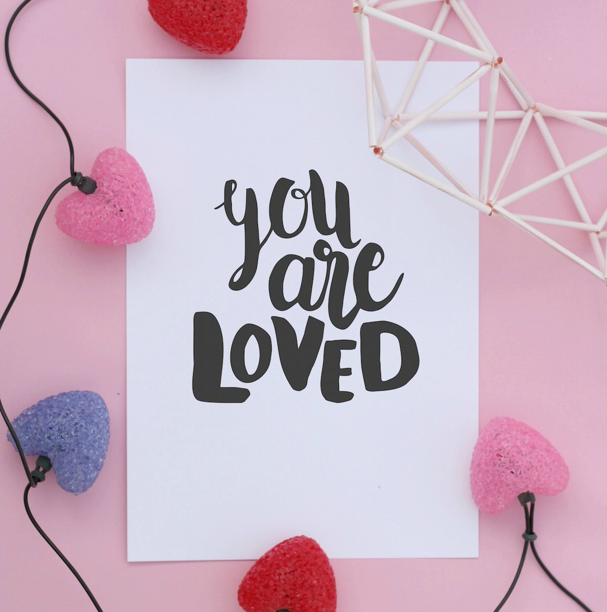You are loved print // Free Download