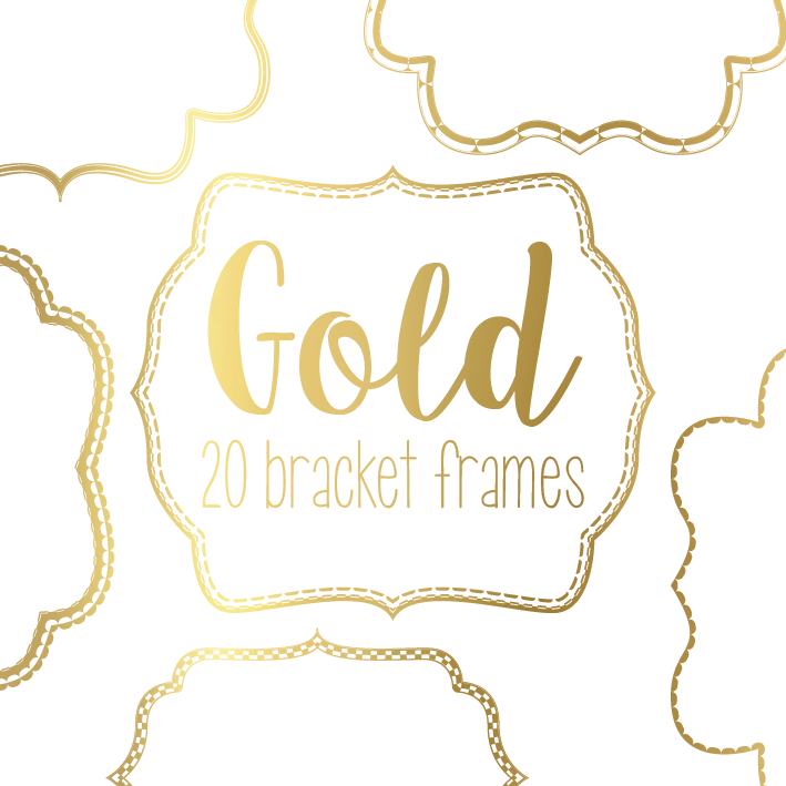 Gold Bracket Frames // Etsy