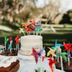 DIY Pinwheel cake toppers that actually turn! Tutorial from Pure Sweet Joy
