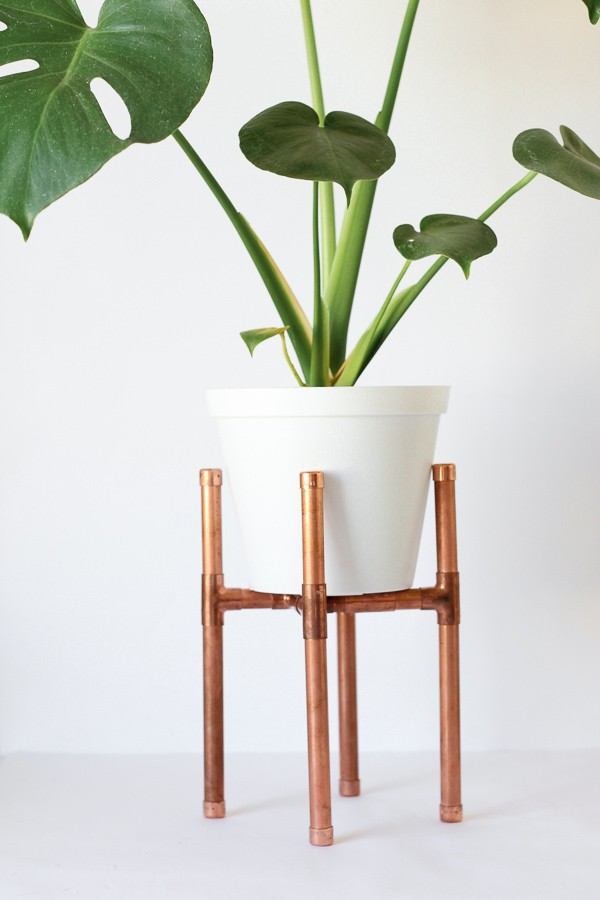 Raised Copper Pipe Pot Plant Stand DIY