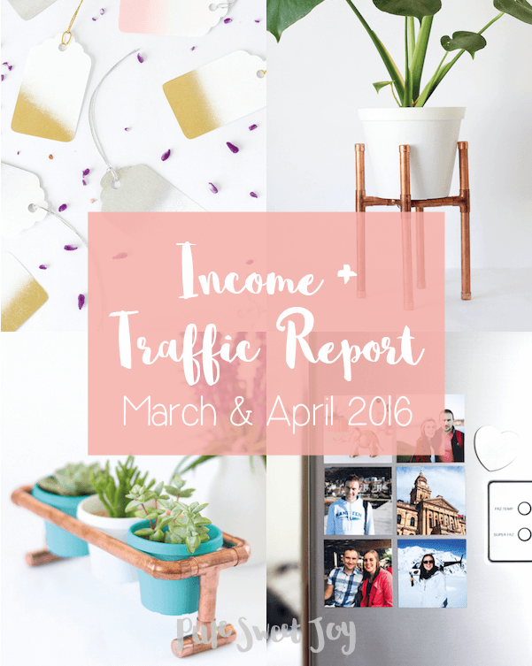 Income and Traffic Report – March & April 2016 // Blogging