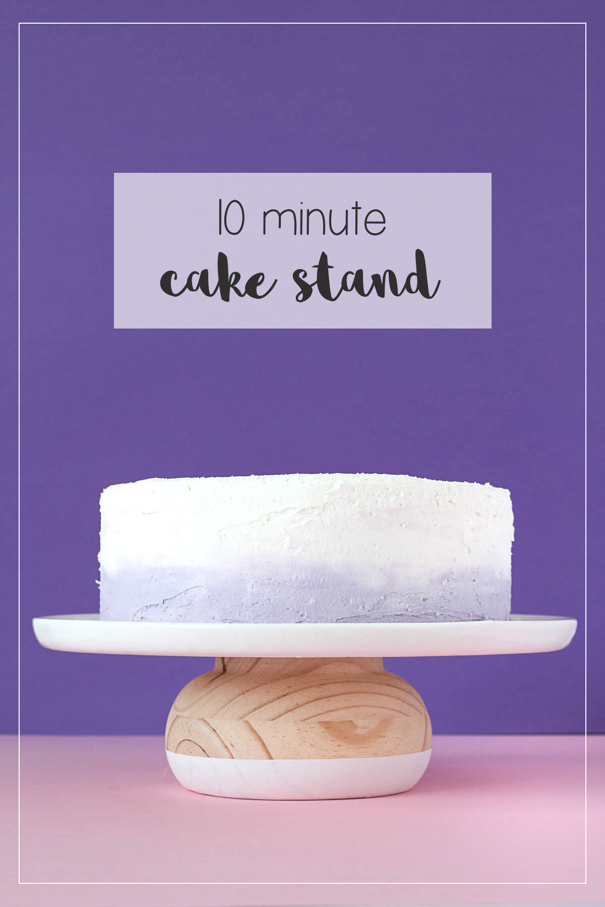 Easy Wooden Cake Stand // DIY