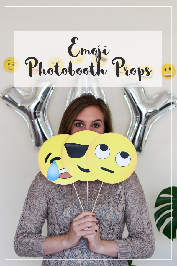 Emoji Photobooth Props // Free Download