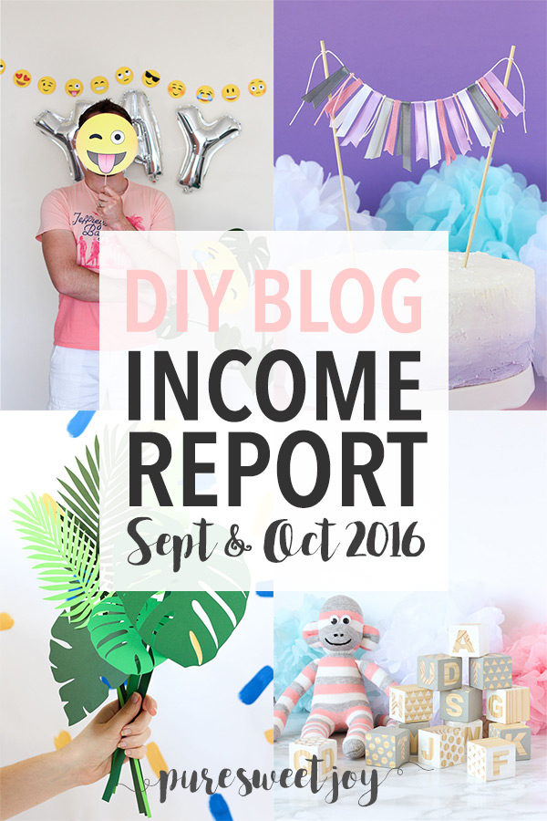 Income Report – September & October 2016